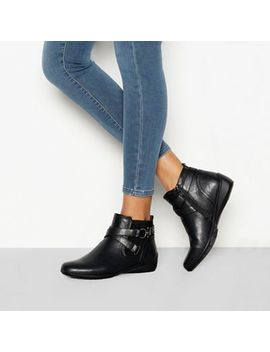 Good For The Sole   Black 'genny' Buckle Detail Wide Fit Chelsea Boots by Good For The Sole