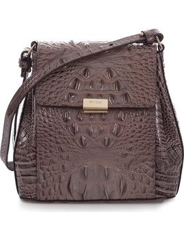 Margo Croc Embossed Leather Crossbody Bag by Brahmin