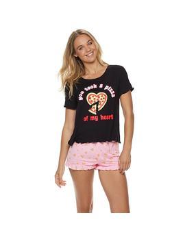 Juniors' So® Swing Tee & Ruffle Shorts Pajama Set by Juniors' So