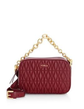 Mini Cometa Quilted Leather Crossbody Bag by Furla