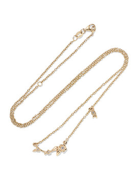 Alba Vine 9 Karat Gold Diamond Necklace by Meadowlark