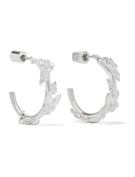Alba Small Silver Hoop Earrings by Meadowlark