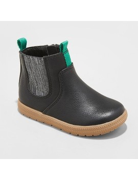 Toddler Boys' Berkley Fashion Boots   Cat & Jack™ Black by Cat & Jack