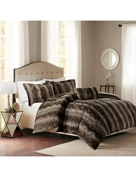Marselle Faux Fur Duvet Cover Set by Shop This Collection