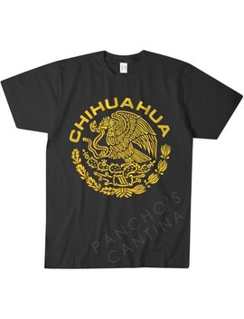 Chihuahua Mexico T Shirt Black | White Mexican Golden Eagle S M L Xl 2 Xl by Etsy