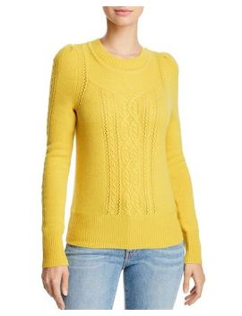 Mixed Knit Cashmere Sweater   100 Percents Exclusive by Aqua Cashmere