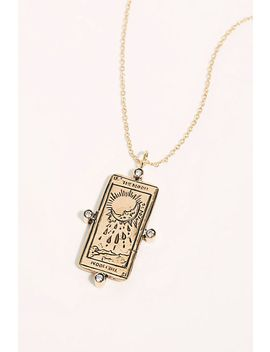 The Moon Tarot Card Necklace by Free People