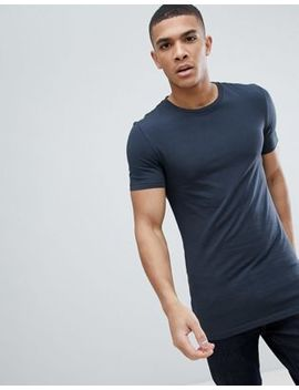 Asos Design Longline Muscle Fit T Shirt With Crew Neck And Stretch by Asos Design