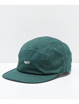 Obey Jumble Bar Ii Green Strapback Hat by Obey