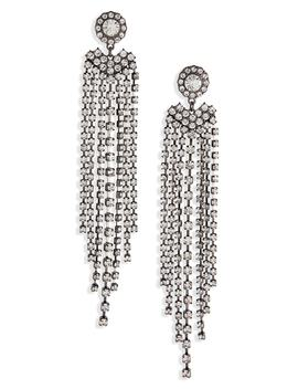 Crystal Fringe Drop Earrings by Bp.