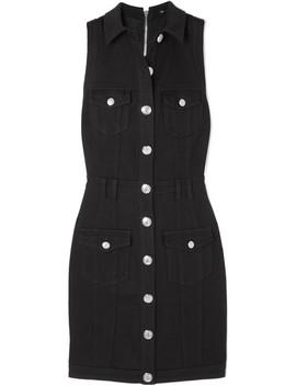 Button Embellished Denim Dress by Balmain