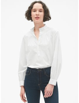 Shirred Popover Shirt by Gap