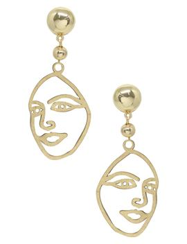 Surrealism Face Drop Earrings by Ettika