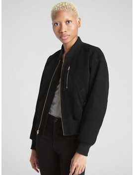 Suede Bomber Jacket by Gap
