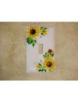 Ha Nd Pai N Te D Sunflower Single Switch Plate Cover Hp by Ebay Seller