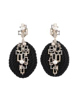 Brutalist Butterfly Corded Statement Clip Earrings by Alexis Bittar