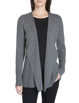 Angled Front Shaped Cardigan by Eileen Fisher