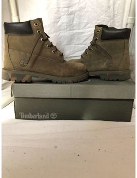 Olive Green Timberland Boots With Camouflage Soles. Women's Sz 9, Men's Sz 7.5 by Ebay Seller