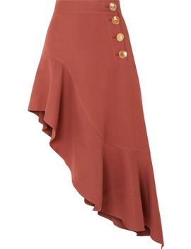 Ella Asymmetric Ruffled Linen Blend Skirt by Rejina Pyo