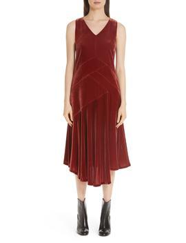 Ashlena Asymmetrical Velvet Dress by Lafayette 148 New York