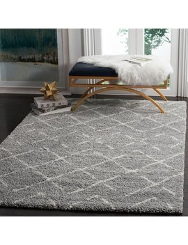 Safavieh Arizona Shag Southwestern Grey / Ivory Rug by Safavieh