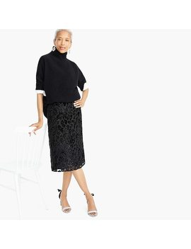 Slip Skirt In Burnout Velvet Leopard by J.Crew