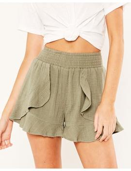 Muslin Frill Shorts by Glassons
