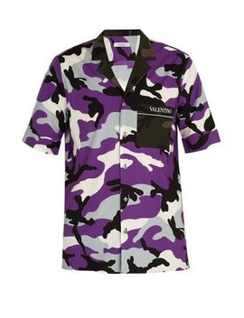Camouflage Print Cotton Shirt by Matches Fashion