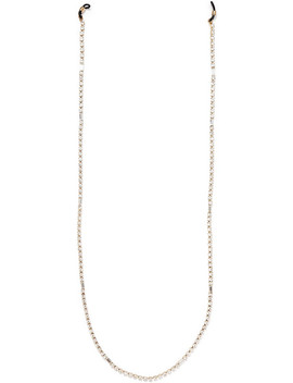 Luci Gold Tone Crystal Embellished Sunglasses Chain by Rosantica