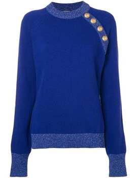 Shoulder Button Knit Sweater by Balmain