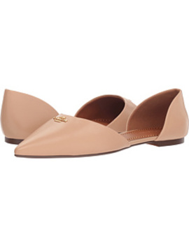 Leather Pointy Toe Flat by Coach