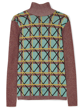 Metallic Jacquard Knit Sweater by Alexachung