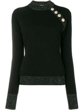 Metallic Trim Sweater by Balmain