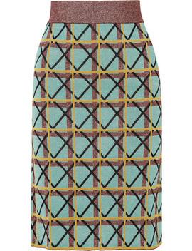 Metallic Jacquard Knit Skirt by Alexachung
