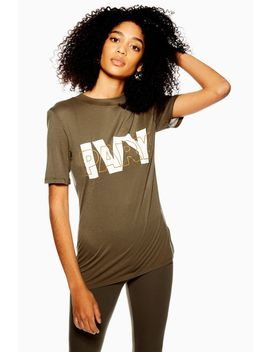 Layer Logo Fitted T Shirt by Topshop