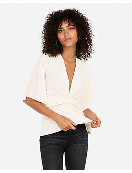 Twisted V Neck Blouse by Express