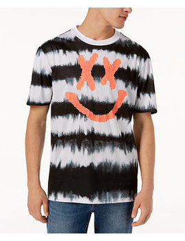 Men's Perforated Tie Dye T Shirt by Guess