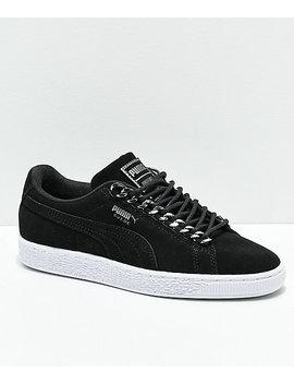 Puma Suede Classic Chains Black & White Shoes by Puma