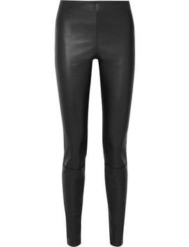 Elenasoi Stretch Leather Leggings by By Malene Birger