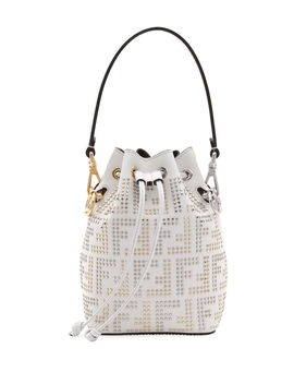 Mon Tresor Small Studded Ff Bucket Bag by Fendi