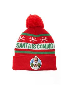 Graphic Santa Beanie by Forever 21