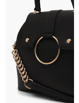Large Ring & Chain Satchel Cross Body by Boohoo