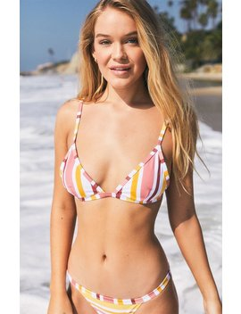 Mink Pink Barbados Fixed Triangle Bikini Top by Pacsun