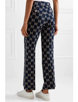 Cotton Jacquard Flared Pants by Gucci