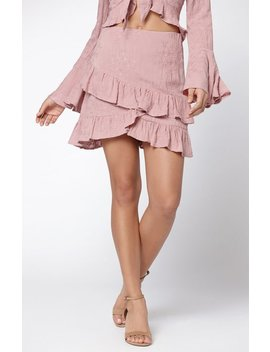 Lost + Wander Rose Ruffle Skirt by Pacsun