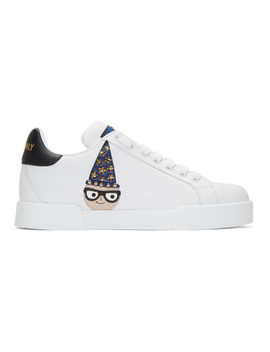 White Magician Designers #Dg Family Classic Sneakers by Dolce & Gabbana