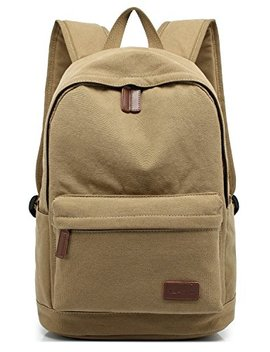 Kayond Casual Style Lightweight Canvas Laptop Bag/Cute Backpacks/School Backpack (Khaki) by Kayond