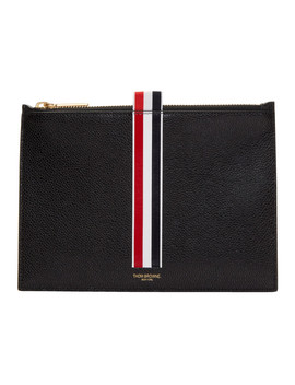 Black Large Coin Pouch by Thom Browne