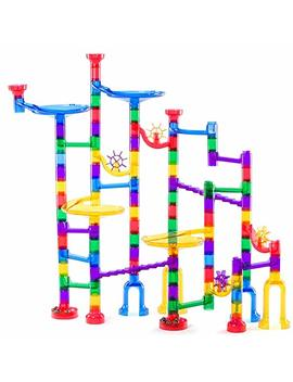 Lolo Toys Marble Run   106 Pieces (90 Translucent Pieces + 16 Glass Marbles), Stem Learning Toy For Kids Age 4 5 6 7+, Educational Building Maze, Marble Race Track Iq Builder, Outdoor / Indoor Game by Lolo Toys
