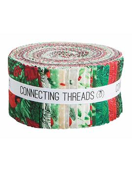 """Connecting Threads Print Collection Precut Quilting Fabric Bundle (Yuletide Charm   2.5"""" Strips) by Connecting Threads"""